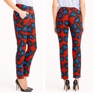 J. Crew Firework Floral Pants with Pockets 10